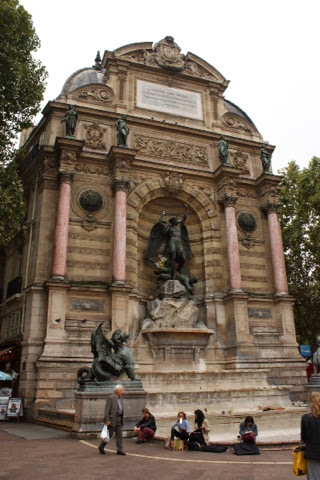 Fontaine Saint-Michel in Paris, France