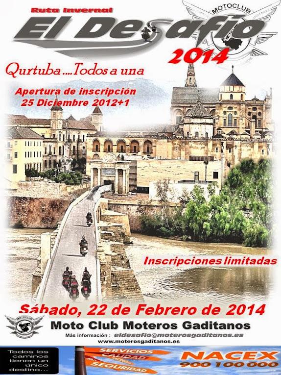 22/02/14 ..... Ruta Invernal El Desafio 2014 Cartel+web