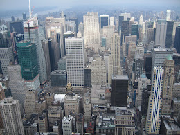 New York from top of Empire State.