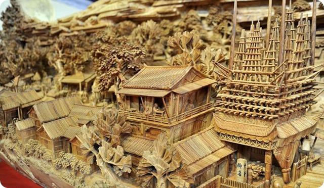 Zheng Chunhui's stunning wood sculpture