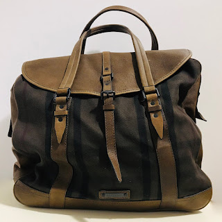 Burberry NEW Chocolate Check Large Holdall Bag