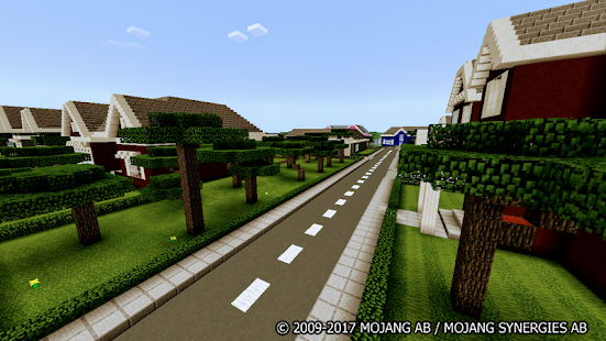 School and Neighborhood Minecraft Map - náhled