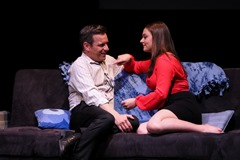 Roland (Daniel Robert Sullivan) and Blair (Clare Fitzgerald); photo by Jack Grassa