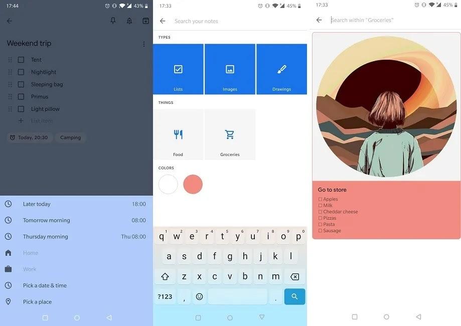 يجب أن يكون لديك تطبيقات تذكير لنظام Android Google Keep Notes