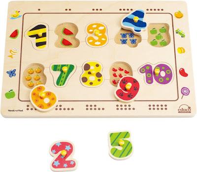 Bộ Ráp hình Số đếm Hape Numbers Matching Puzzle