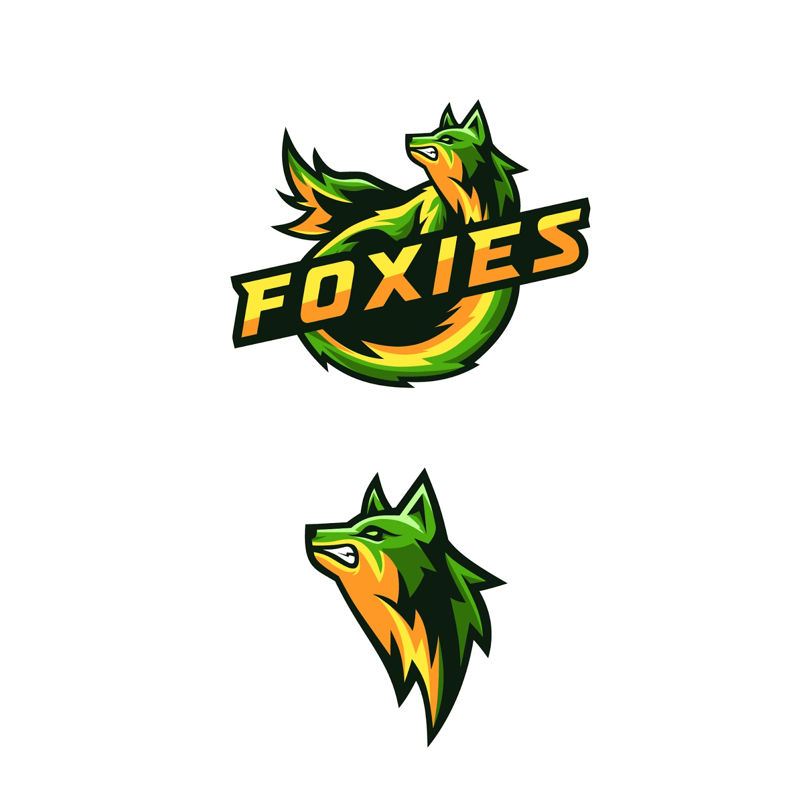Awesome Foxies Logo Squad Gaming Free Download Vector CDR, AI, EPS and PNG Formats