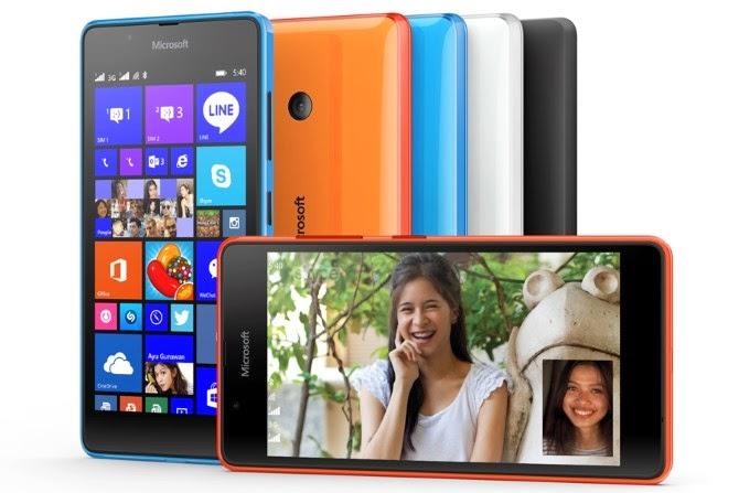 Microsoft trình làng Lumia 540 Dual Sim, WP8.1, camera trước 5MP, giá 149 USD