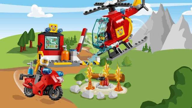 Khung cảnh sinh động của bộ Lego Juniors 10685 Vali Cứu hỏa Fire Suitcase