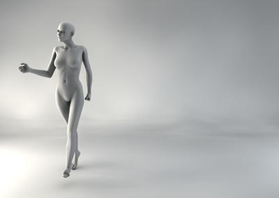 femme 3D pose naturelle BH 10
