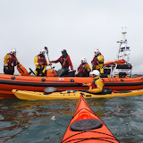 Training exercise with kayakers - 3 May 2015