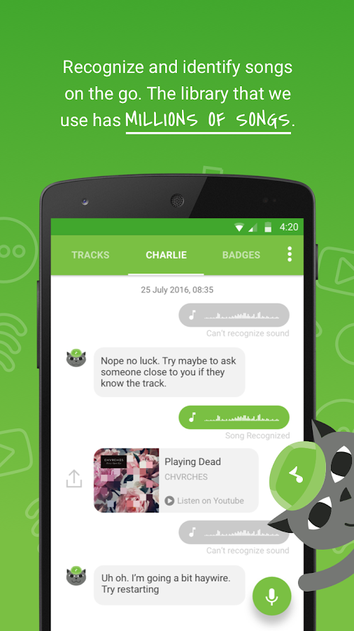 Charlie - Music Companion- screenshot