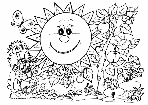 Coloring Book Pages Nature  Colouring Sheets Nature Printable Coloring  Pages Nature Spring Printable Coloring Pages