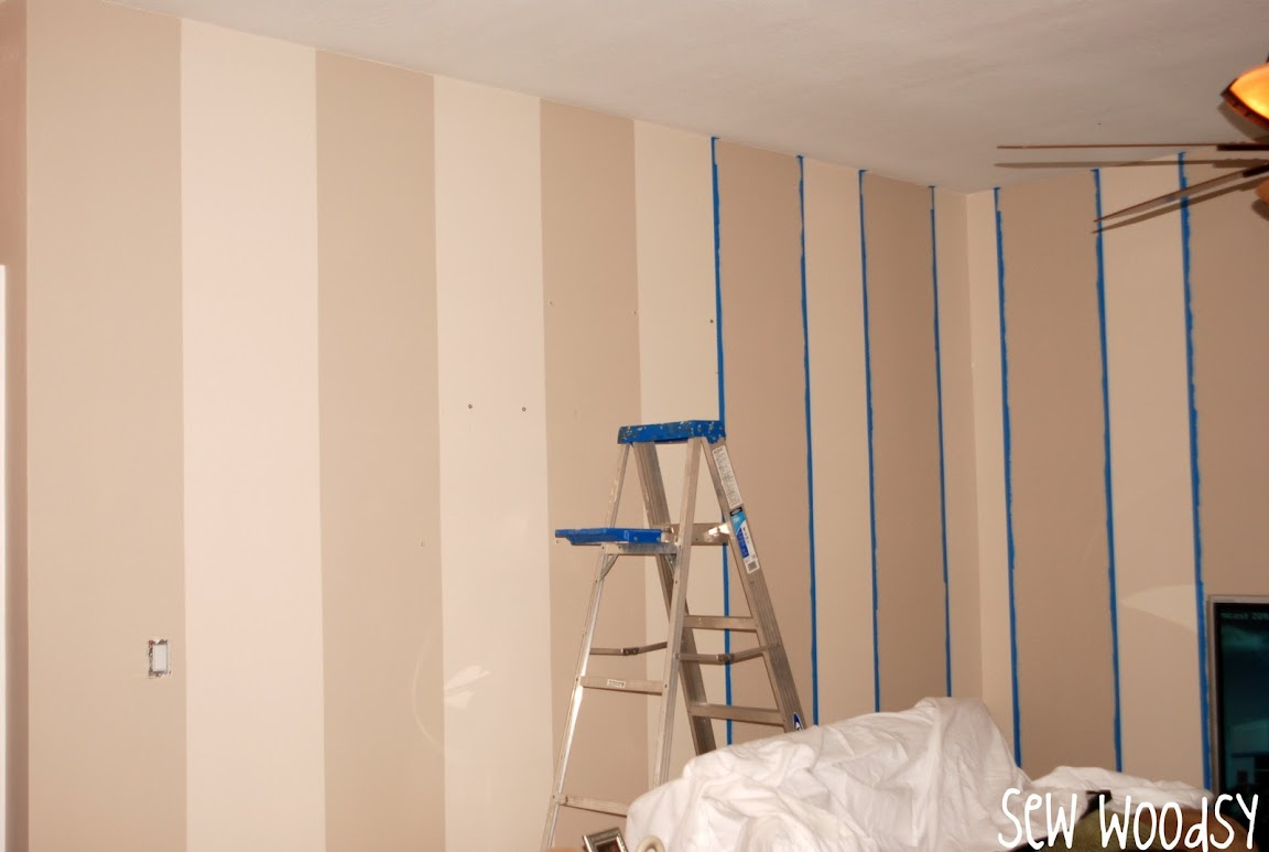 painted wall stripes