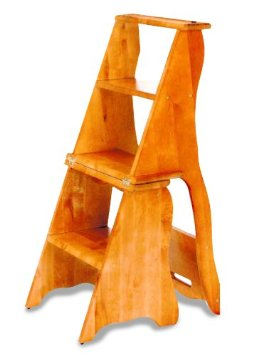 Convertible Wooden Chair Step Stool