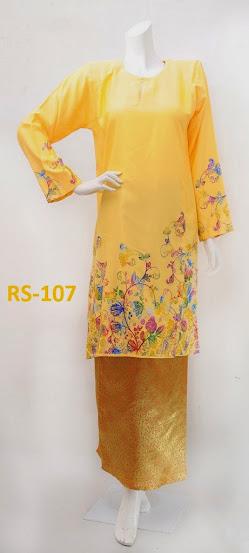 baju raya 2014 terkini limited edition kuning fesyen baju kurung pesak gantung online murah