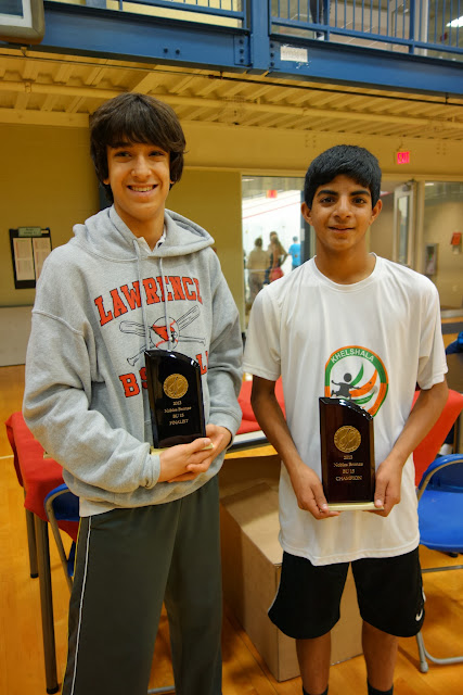 BU15 flight: Matthew Gunton, Finalist, and Ishaan George, Champion