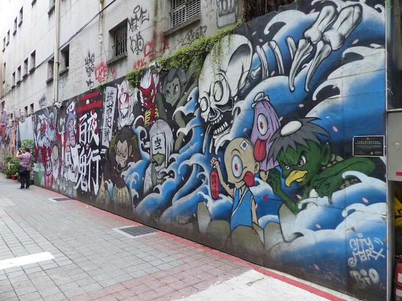 Taipei. Street art à Ximen et Youth park - P1250141.JPG