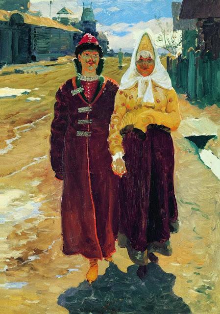 Andrei Ryabushkin - Going on a Visit. 1896