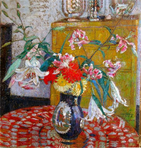 Leon De Smet – A still life with flowers in a vase 1928