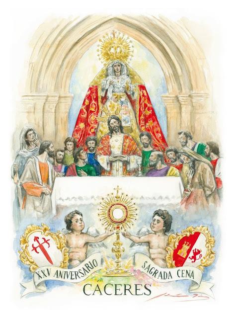 Cartel conmemorativo del XXV Aniversario de la Cofradía