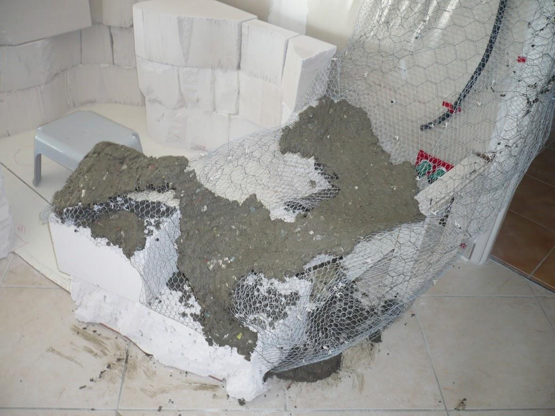 le d but du rocher fauteuil et de la sculpture mur rocheux et bassin malawi de 700l. Black Bedroom Furniture Sets. Home Design Ideas