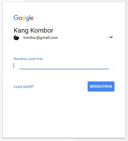tampilan login baru google