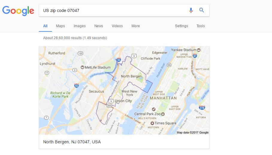 How do you draw US Zip Code polygon / boundary on maps