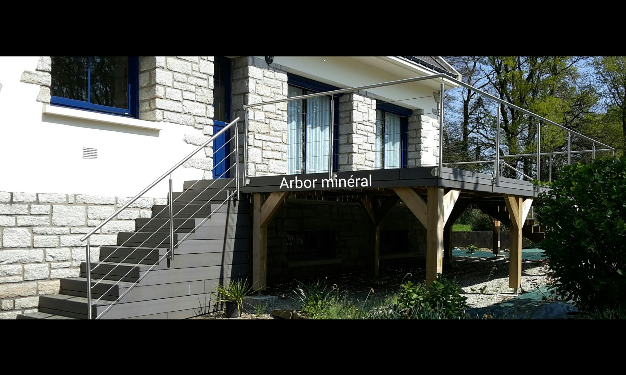 terrasse bois posite sur pilotis vannes morbihan arbor mineral paysagiste createur de