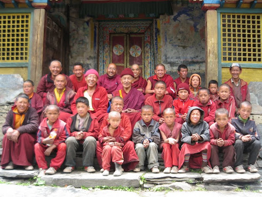 Community at Mu Gompa, Tsum, Nepal. Photo courtesy of Kopan Monastery.