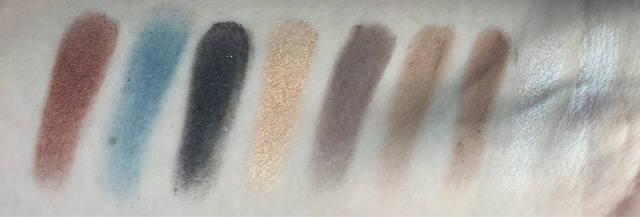 few swatches of the freedom makeup black arts palette