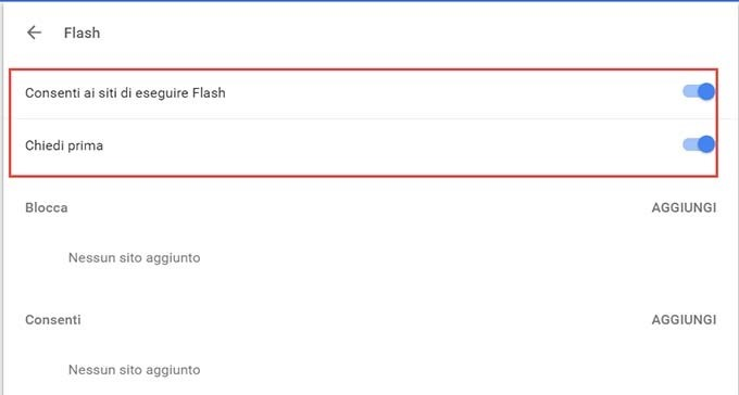 opzioni-flash