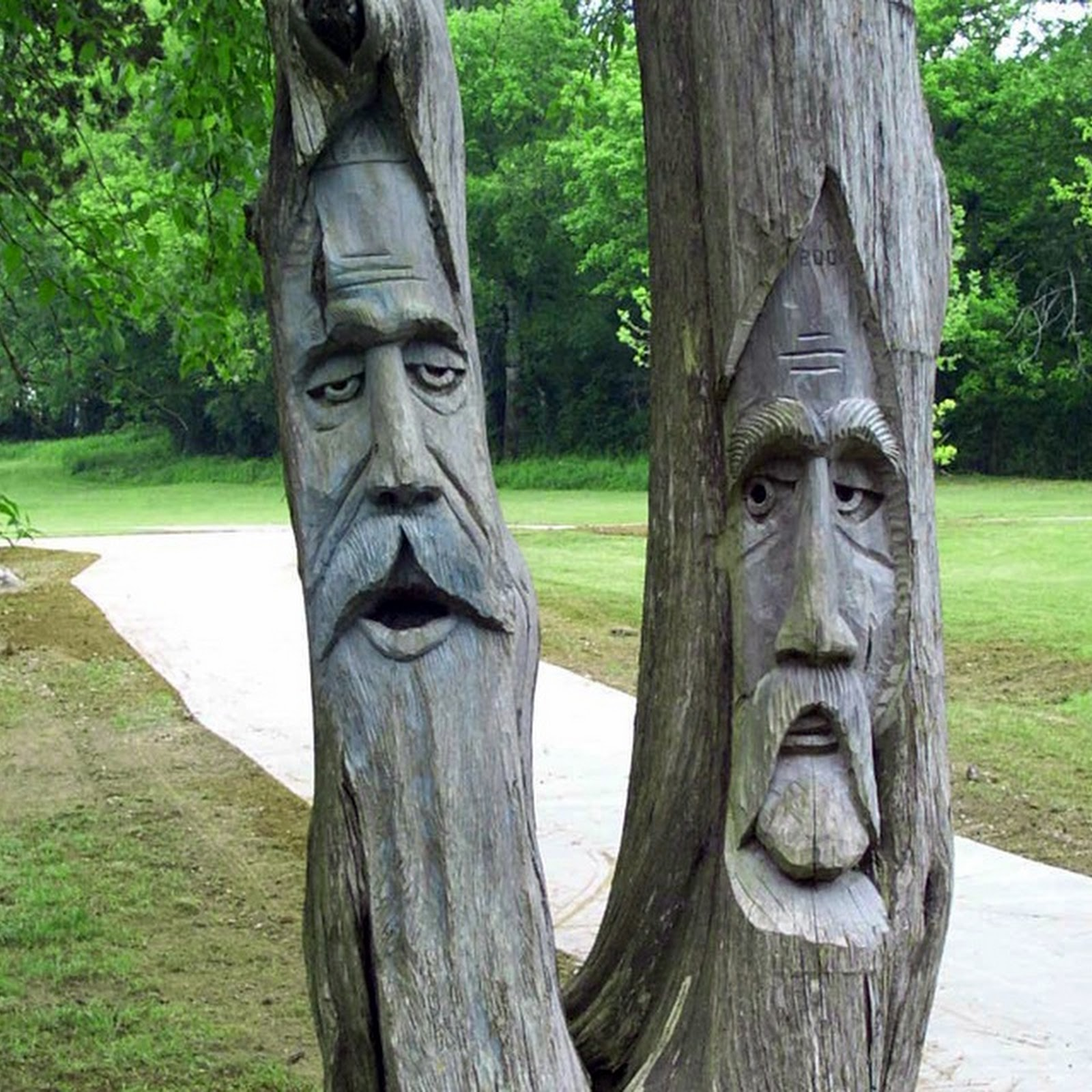 Carving dead trees into public art amusing planet