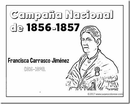 Campaña Nacional  de 1856-1857 Francisca Carrasco Jiménez (1)
