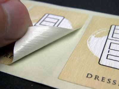 クレープ紙シールに印刷して作製した商品用の和紙ラベル