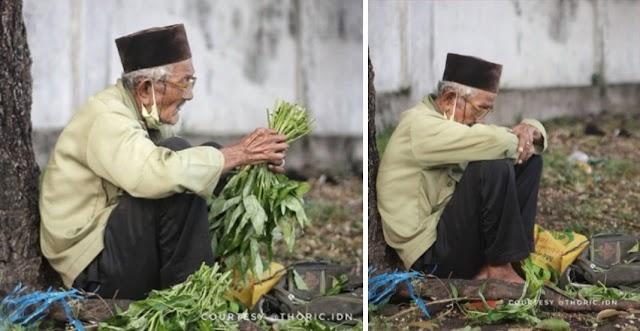 Usia 79 Masih Keluar Meniaga, Pakcik Jual Sayur Buat Ramai Tersentuh