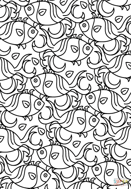 Click The Fish Pattern Coloring Pages To View Printable Version Or Color It  Online Patible With Ipad And Android Tablets
