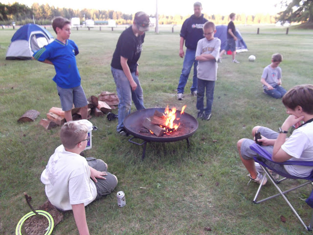 Good job Lightening Eagles on getting the fire going!