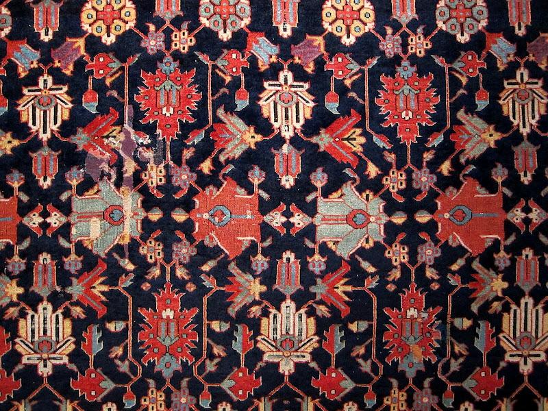 Navy rug pattern