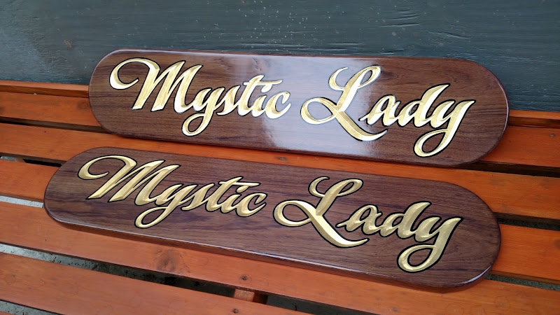 gold leaf quarterboards - mystic lady