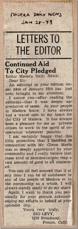Letter to Editor Jan_28_1949
