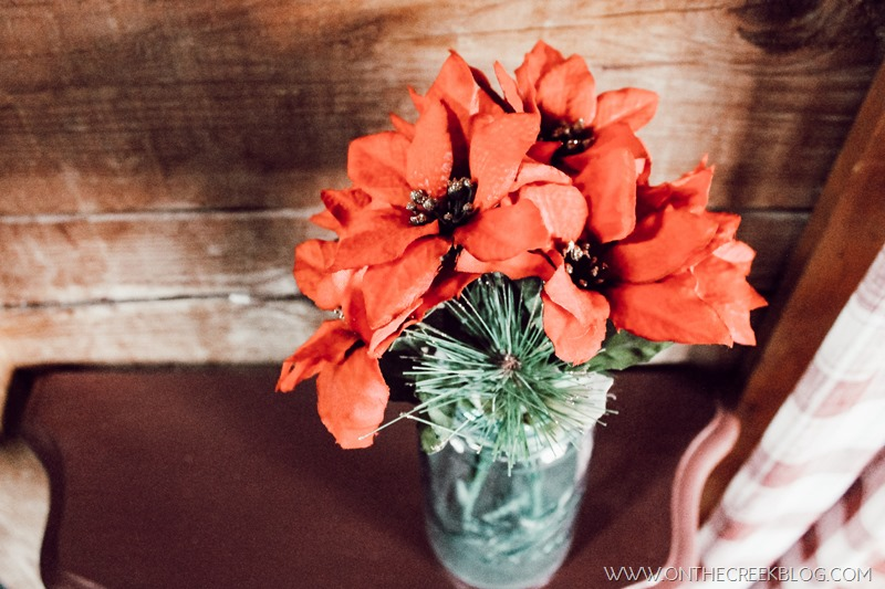 Cute & cheap Christmas floral found at the Dollar Tree!