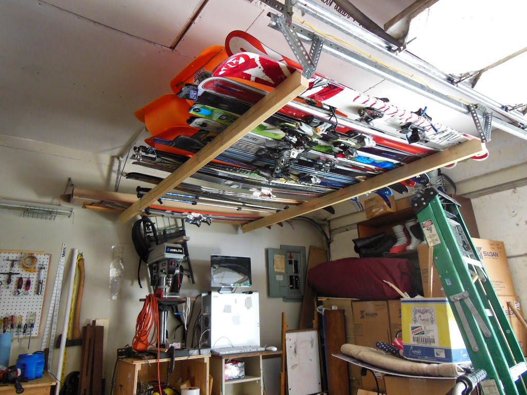 Garage Ski Storage (DIY or prebuilt) on hooks for garage, ski rack plans, ski roof rack, ski boot storage, fishing racks for garage, ski wall rack, board racks for garage, hardware for garage, ski wine rack, ski hangers wall mount, ski and snowboard storage, ski coat rack, bike for garage, ski rack in mudroom, ski display, diy surfboard racks for garage, winches for garage, drawers for garage, storage benches for garage, ski rack ideas,