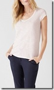 The White Company cotton slub v neck t-shirt