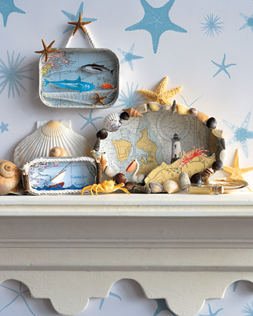 These nautical dioramas are a great vacation keepsake.