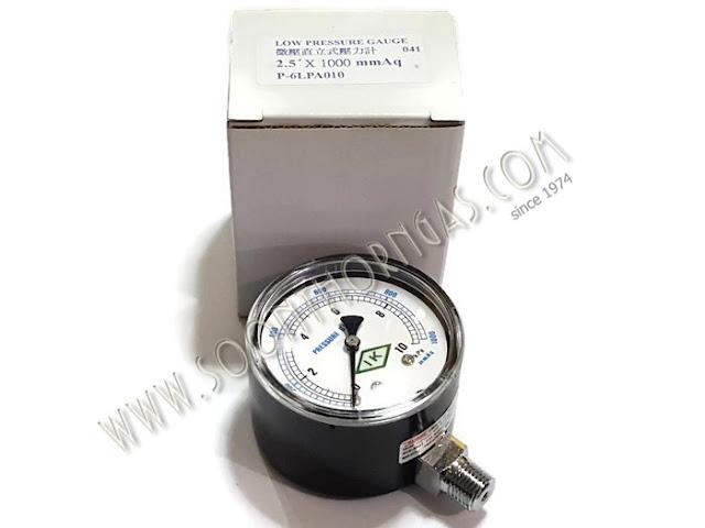 เกจ์วัดแรงดันแก๊ส ( LOW PRESSURE GAUGE ) IK  0-10 kPa