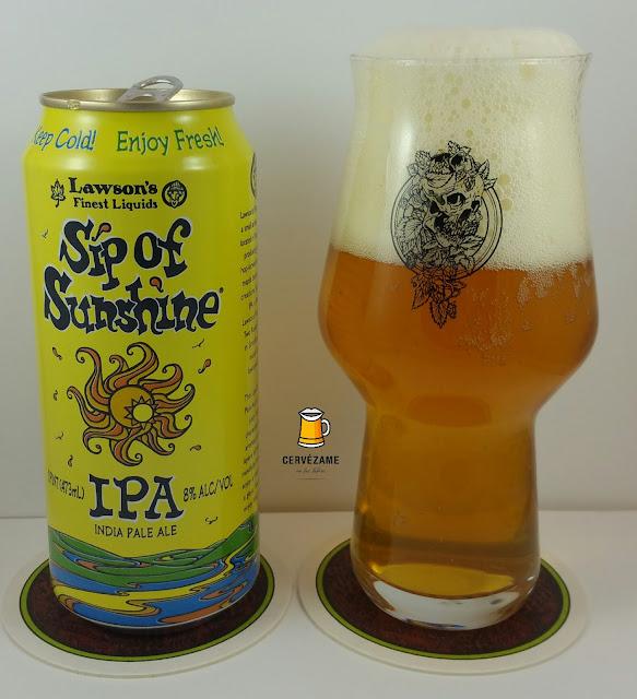cerveza beer Lawson's Finest Sip of Sunshine IPA cervezame