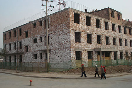 Stages of the building of Amdo Eye Hospital 2007