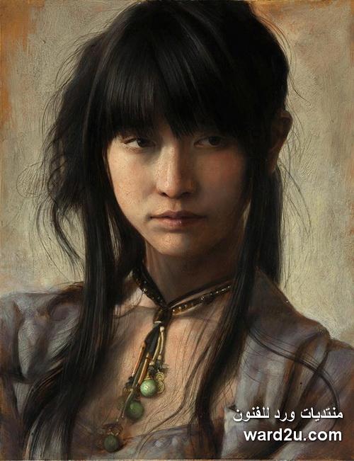 بورتريهات ومشاهد واقعية ابداعات الفنان الياباني Osamu Obi