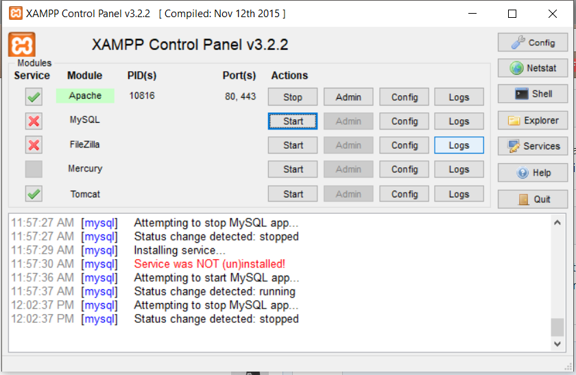 Cara Mengatasi Mysql Server Tidak Dapat Berjalan di XAMPP Akibat Struktur Tabel Bermasalah