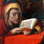 Maitre de Santa Clara de Palencia - La Mort de la Vierge (détail, fin 15e siècle)